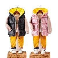 Olekid 2020 Otoño invierno chaleco infantil chaleco chaleco impermeable chaleco para niño 2-9 años niño chaqueta sin mangas bebé chicas bebé chaleco lj201130