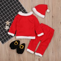 Long Baby Girl Christmas Clothes Clothes Designers 2020 Sleeve Christmas Child Childrens Boy Nightwear Clothing Sets Owpox