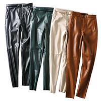 2020 Nuevo diseño de la cintura alta de la cintura de la mujer de las mujeres más terciopelo túnico cálido otoño invierno pantalones largos más tamaño xssml