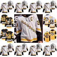 87 Sidney Crosby Pittsburgh Penguins 2021 Ters Retro Jersey Jake Guentzel Kris Letang Kasperi Kapanen Tristan Jarry Malkin Varone Tanev