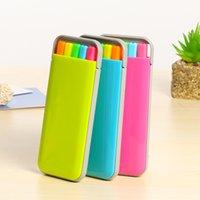 5 teile / Box Candy Farbe Highlighter Stift Set Mini Kunst Marker Schreibwaren Büro Schulbedarf Caneta Fluorescent