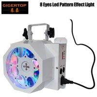 Tiptop Bühnenlicht 8 Augen-LED-Bewegungskopf drehen Muster-Effekt-Licht RGBW 4 Farbe 8 * 3W Original-LED-Lampe DMX 7CH 90V-240V