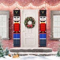 Decoraciones de Navidad Soldado Modelo Modelo Cascanueces Banner al aire libre Colgando Hogar Party Decor Flag # Q