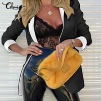 Frauenanzüge Blazer 2021 Mode Anzug Kragen Mantel Celmia Herbst Business Langarm Strickjacke Damen Jacken Plus Größe