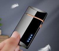 Rüzgar Geçirmez Renkli USB Siklik Şarj Arc Çakmak Taşınabilir Yenilikçi Tasarım Herb Sigara Tütün Sigara Için Yenilikçi Tasarım Dokunmatik Algılama Sıcak Cake Sn