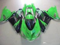 Зеленый черный обтекатель для кузова для Kawasaki Ninja ZX14R 06 07 ZX-14R ZX 14R 2006 2007 2007