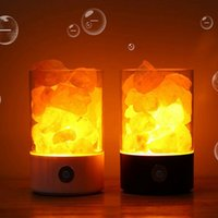 USB-Salzlampe LED-Licht Himalayan-Salzlampe Natürliche Himalaya-Kristall-Rock-Salzlampe USB LJJK2502
