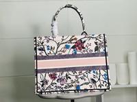 Luxury 3a Vendita calda Classic Brand Blue Black Shopping Bag Black Bag Canvas Ricamato Grande capacità Borsa Borsa di alta qualità Borsa a tracolla femminile