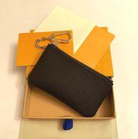 Ücretsiz kargo! Özel 4 Renkler Anahtar Kılıfı Zip Cüzdan Sikke Deri Cüzdan Kadın Tasarımcı Çanta 62650