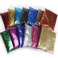 Fábrica Atacado Glitter Pó PET 24 cores Glitter 0.1-1.0mm 1 00G Embalagem De Couro De Couro Decorativo Glitter Matéria Prima