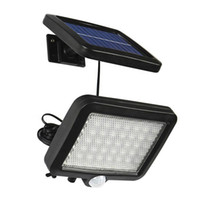 56 LED 태양 전원 벽 조명 PIR 모션 센서 절약 에너지 탐지 램프 적외선 야외 보안 야드 정원에 대 한 방수 IP65