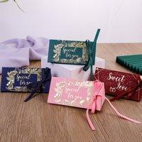결혼식 축하 사탕 상자 삼각형 초콜릿 선물 포장 상자 골드 도금 선물 랩 실크 리본 새로운 도착 0 33cy m2