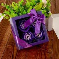 Fiore di sapone creativo scatola di alta qualità confezionata rose artificiali romantiche regalo di San Valentino regalo compleanno fiori da sposa rre3075