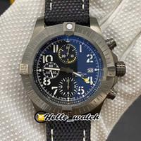 GF Super II 45mm Bandit A1337111 ETA A7750 Cronógrafo automático Hombre Reloj de titanio Caja de titanio Sapphire Cronómetro Nylon Cuero Top Hello_Watch