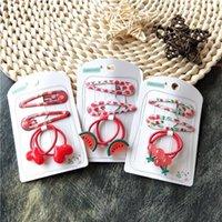 Accessori per bambini Accessori per capelli Girl's Headdress Red Fruit Love Baby Gomma Bed Baby Small Circle Baby Piccolo Pollice Anello per capelli Set
