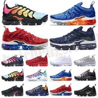 2020 Nova Chegada Frete Grátis Designers Sapatos Homens Sapatilhas TN Rainbow Plus Sapatos de Cusão Respirável Correndo Sapatos Euro 36-45 B-72