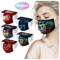 2021 New Year Disposable Face Masks Adult Kids 3 ply Non Wov...