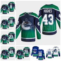 Retro Retro Vancouver Canucks Hockey sobre hielo 43 Quinn Hughes Jersey 70 Tanner Pearson 18 Jake Virtanen 49 Braden Holtby 23 Alexander Edler