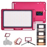 Flaş Kafaları FOSOTO FT-03 MINI LED Video Kamera Işık Paneli 3500K-5700 K 96 DSLR için Picrafik Aydınlatma Vlog Dolgu Lambası