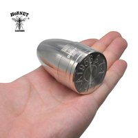 HORNET Two In One Multi-Use Herb Grinder 40*68 MM Metal Tobacco Grinder With Storage Container Dry Herb Cursher Storage Container