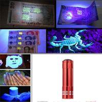 Torce torce mini alluminio UV Ultra Violet 9 LED Blacklight Torch Light Lamp1