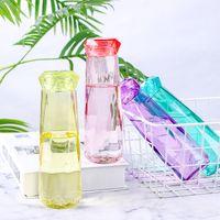 زجاجة ماء زجاج كريستال أزياء السفر القدح زجاجات المياه الرياضية التخييم التنزه غلاية شرب كأس الماس هدية JXW757