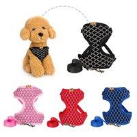 Collari per cani Guinzaglia pet pet pet pet barmetto regolabile e guinzaglio set fermo durevole gilet gilet gatto imbracature per imbracature