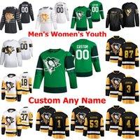 Golden Edition Pittsburgh Penguins Jerseys Hockey 5 Mike Matheson 7 Colton Sceviour 42 Kaspari Kaspari Sidney Crosby Cucito personalizzato