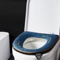 Hohe Qualität Neue Herbst Winter Wasserdichte Zecken Samt Schwamm Kunstleder CloseStool Abdeckung Kissen Toilette Sitzbezug