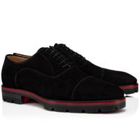Modern Beyefendi Kırmızı Alt Loafer'lar Hubertus Orlato Erkek Düz Süet Derby Lug Taban Oxford Yürüyüş Ayakkabıları Parti Düğün Bussine Için