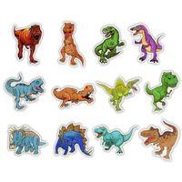 50 Pcs Waterproof Dinosaur Animal Stickers Toys For Kids Educational Home Decor Laptop Luggage Helmet Skateboard Wat sqcjst toys2010