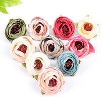 5 pçs / lote mini rosas brotos de chá artificiais casamento decoração home decoração diy artesanato grinalda presente dia dos namorados decoração falsa bymaxe