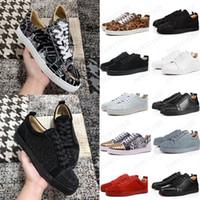 2021 Hot mens bottoms shoes spike camurça couro homens mulheres plana moda casual sapatos festa amantes sneakers 36-47 com caixa