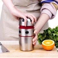 Entsafter tragbarer saftiger kraftvoller Edelstahldeckel rotierender orange Zitruszitronen-Zitronen-Honey1