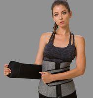 النساء البطن السيطرة مزدوجة حزام حزام الضغط زيادة الخصر المدرب الجسم تشكيل التخسيس رياضة قابل للتعديل البطن