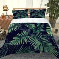 2021新しい寝具セット3 PCS 3Dプリント緑色の葉Qulit Cover Pillowcase高品質寝具在庫品