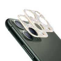 Kamerafilm-Diamant-gehärtetes Glas für iPhone 12 11 Pro Max-Kamera-Objektiv-Displayschutzfunkeln funkelnde volle Abdeckung mit Kleinkasten