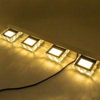 노드 아트 장식 조명 현대 방수 거울 벽 LED 가벼운 욕실 광장 럭셔리 4 조명 크리스탈 sconce 크리스탈 램프