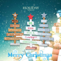 Artificial Christmas Tree Mini Xmas Tree Desktop Christmas Wooden Creative Beautiful Toy Home Party Gift Supplies1