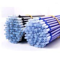 40 stücke 0.38mm löschbare Stift Nachfüllung für Büro Signature Gelstift Magie löschbare blaue / schwarze Tintenstangen Schulschreibwerkzeuge1