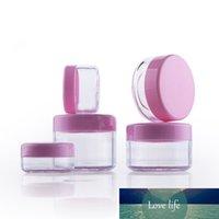 50 pcs vazio frasco frasco de frasco de plástico recipientes cor-de-rosa tampão cosméticos embalagem pote refilável glitters caixa 3g 5g 10g 15g 20g