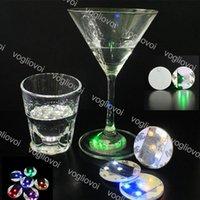 LED garrafa luz adesivo copo caneca coaster tapete de copos para bar clube halloween ano novo festa de natal alta decoração de brilho DHL