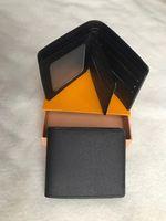 2020 Новая Мужская Мода Классический дизайн Повседневная Кредитная карта ID Держатель Hiqh Качество Настоящая Кожа Ультра Тонкий кошелек Пакетная сумка для Mans / Womans