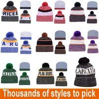 Designer chapéu de inverno time beanie feitos malha chapéu de desenhador todos os esportes equipes baseball futebol basquete beanies chapéus tampa pode misturar pedidos dwe3269