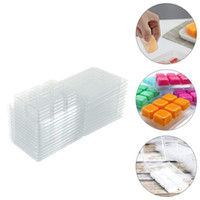 50pcs Wax Melt Containers 6 Cavity Clear Empty Plastic Wax M...