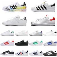 أزياء سميث أبيض أسود وردي أزرق الذهب 80s فخر ستان أحذية رياضية النساء الرجال الرياضة الجري حذاء الحجم 36-45
