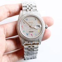 Версия обновления 126234 126334 116244 Арабские бриллианты Cal Cal A3255 Автоматические часы Мужские часы 904L Сталь Алмаз, замороженный полный корпус