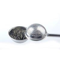 304 الفولاذ المقاوم للصدأ الشاي مصفاة الكرة دفع الشاي infuser فضفاض ليف ملعقة صغيرة مصفاة تصفية الناشر جودة عالية الرئيسية شريط الشريط أداة