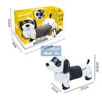 EMT QT1 RC Robô Dachshund Dog Brinquedo, Controle de Toque, Cantar, Luzes, Programação Inteligente, Smart Siga, Para Presente De Aniversário De Criança De Natal, Usu