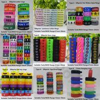 Custom Ecig Silicone Vape Bague en caoutchouc coloré Bagues de silicium personnalisées avec votre logo ou votre nom pour Vapor Mod Tank Verre